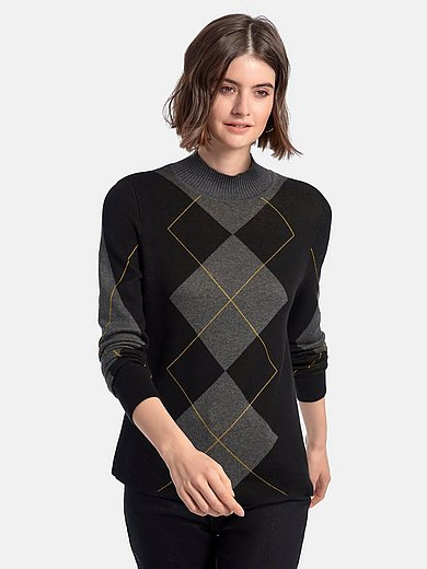 Looxent - Jumper with long sleeves and stand-up collar