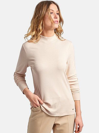 Basler - Top with stand-up collar and long sleeves