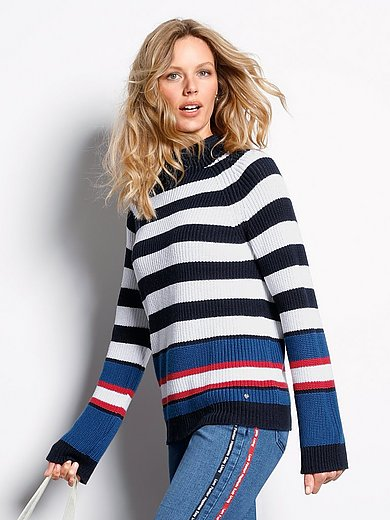 DAY.LIKE - Striped jumper with long raglan sleeves