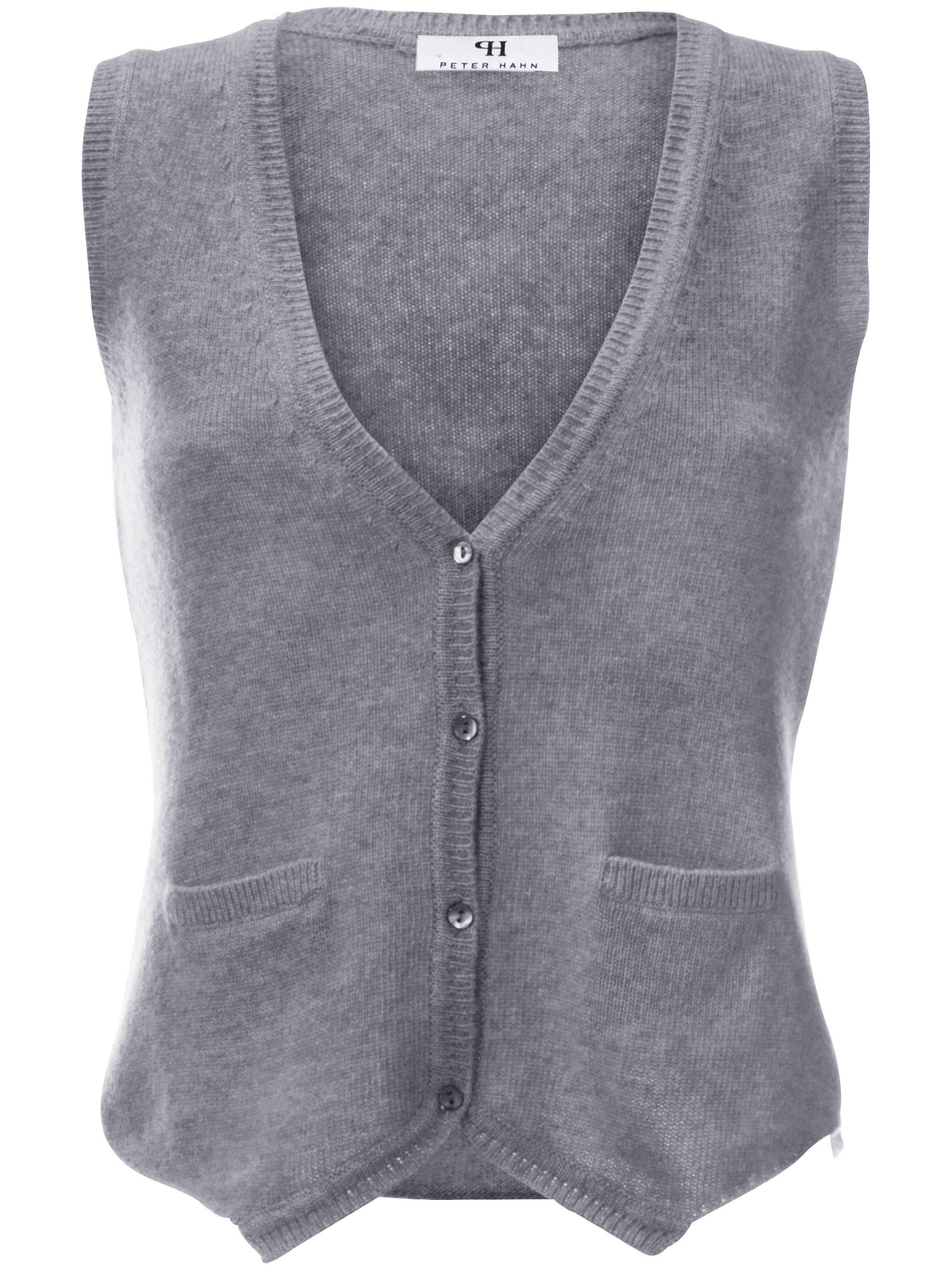 Vest van 100% scheerwol Van Peter Hahn grijs