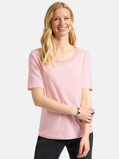 Basler - Jersey round neck top with short sleeves