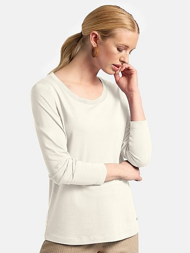 Basler - Jersey round neck top with long sleeves