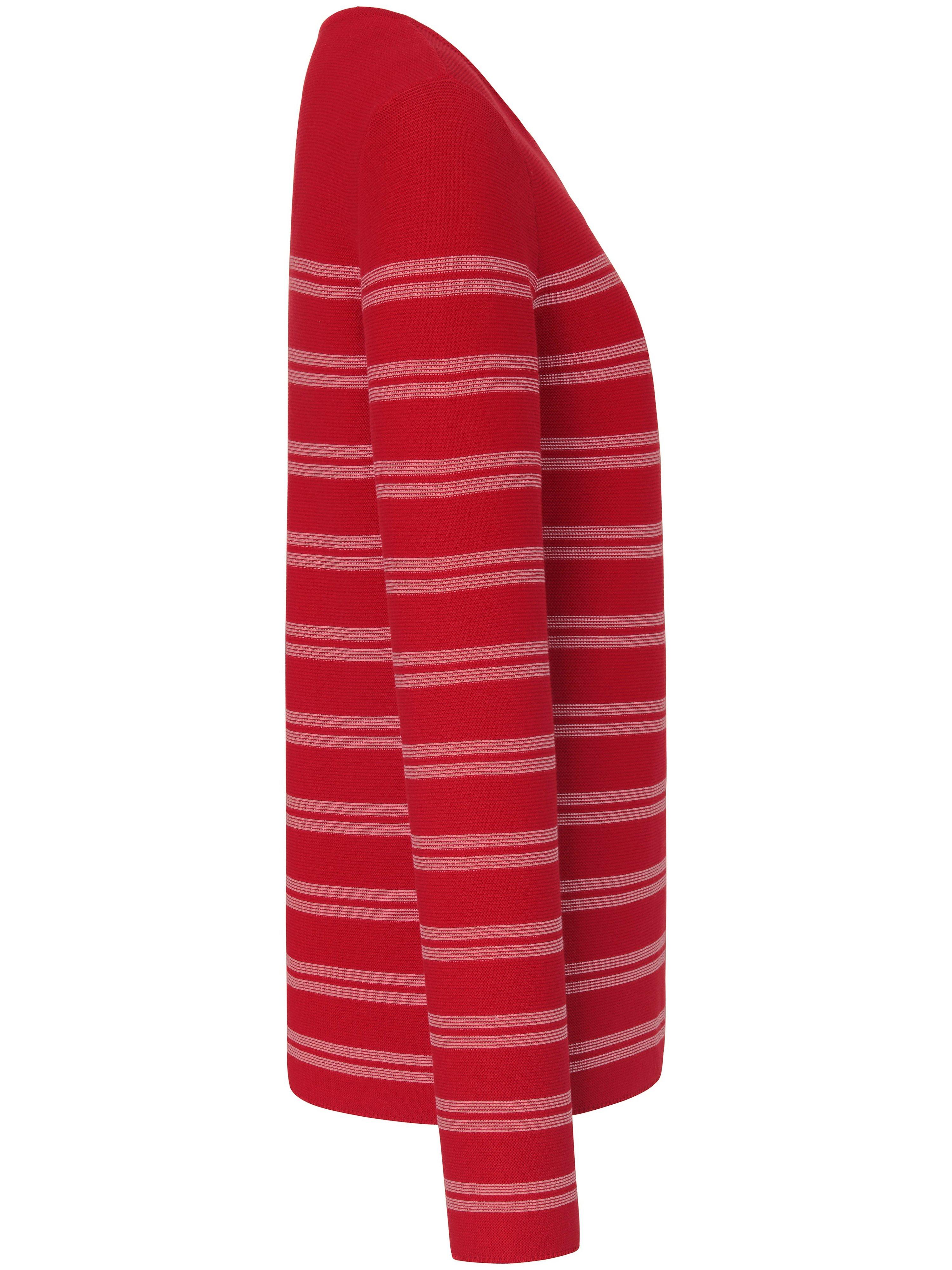 Strikbluse stribevarianter i 100 bomuld Fra Peter Hahn rød