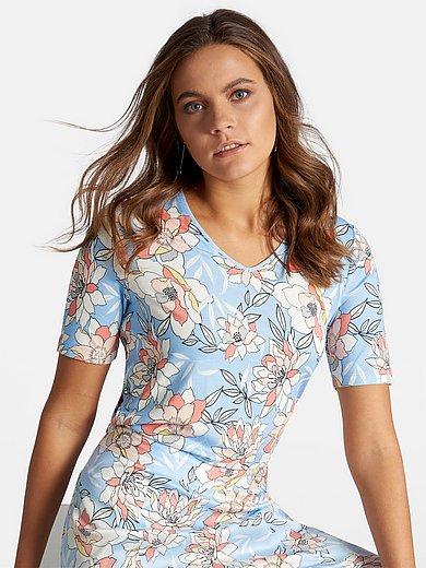 Basler - V-neck top with floral print