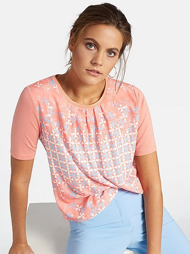 Basler - Round neck top with graphic patterns