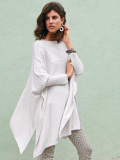 Laura Biagiotti Roma - Poncho-Pullover aus 100% Premium-Kaschmir