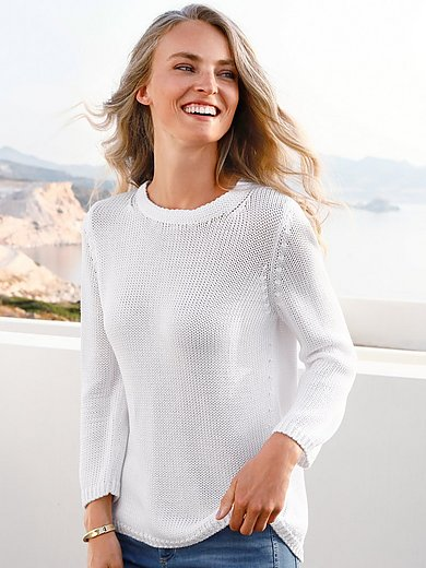 Peter Hahn - Round neck jumper with 3/4 sleeves