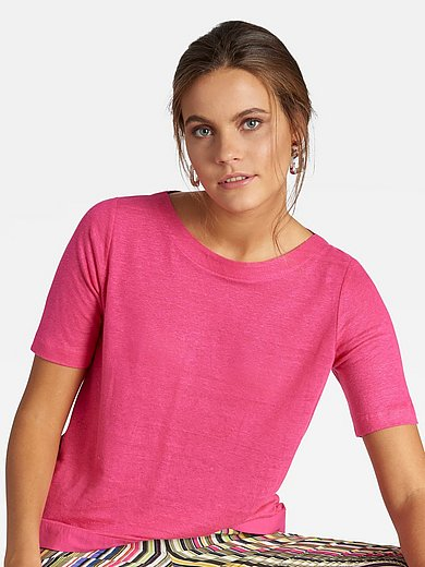 Basler - Le T-shirt 100% lin encolure bateau