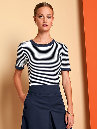 Fadenmeister Berlin - Round neck jumper with stripes