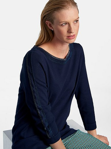 Basler - Jumper with 3/4-length sleeves and boat neck