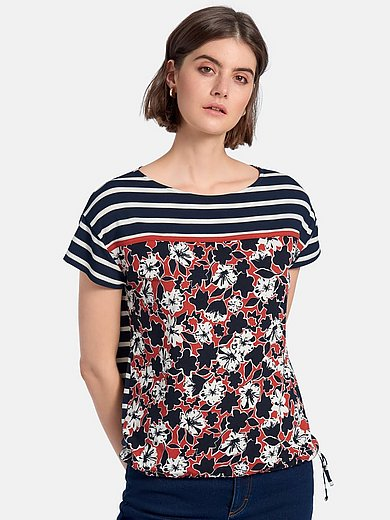 Betty Barclay - Round neck shirt with short sleeves