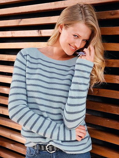 include - Jumper with boat neck in Pure cashmere in premium