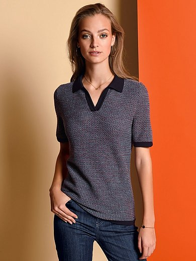 Fadenmeister Berlin - Polo collar jumper with short sleeves