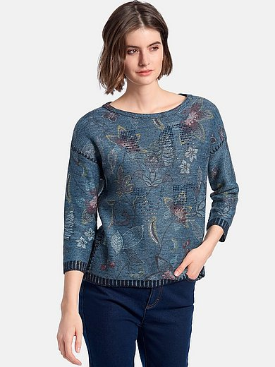 Betty Barclay - Round neck jumper with 3/4-length sleeves