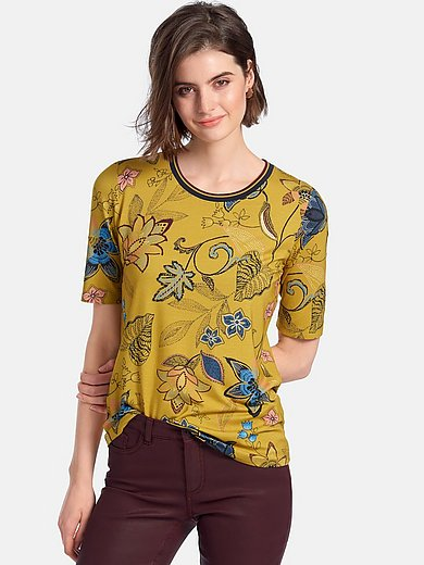 Betty Barclay - Round neck shirt with floral motifs