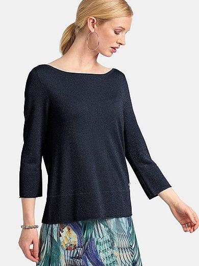 Basler - Round neck jumper with 3/4 length sleeves