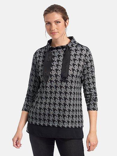 Doris Streich - Sweatshirt met jersey-inzet in de mouwen