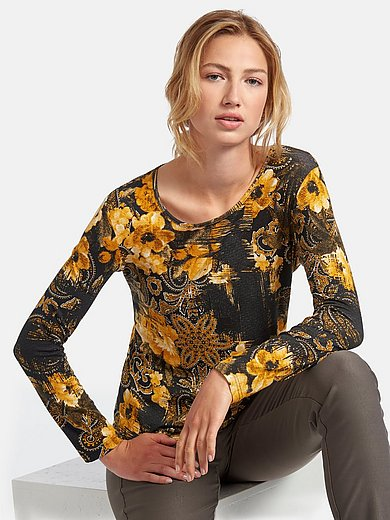 Peter Hahn - Round neck top with long sleeves