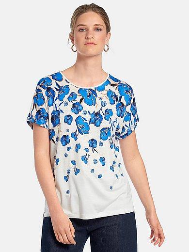 Gerry Weber - Shirt med rund hals og ensfarvet tittekant