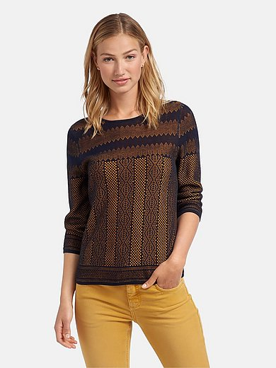 mayfair by Peter Hahn - Rundhals-Pullover mit 3/4-Arm