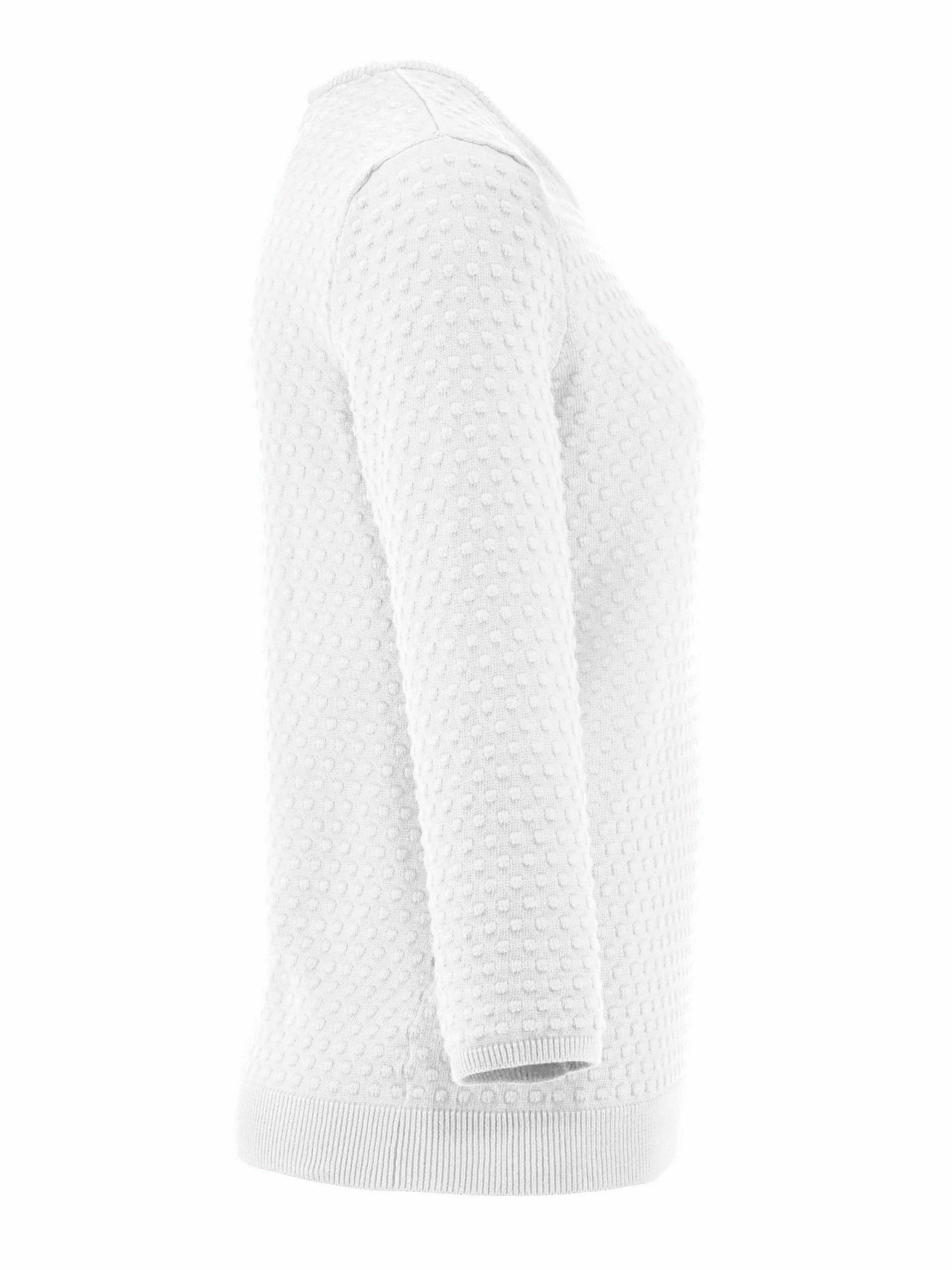 Rundhalset sweater Fra Peter Hahn hvid