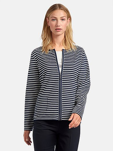 Rabe - Twinset with knitted stripes
