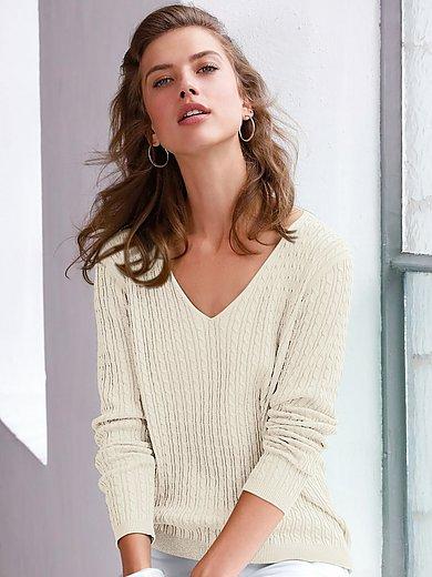 Looxent - V-neck jumper in 100% cotton