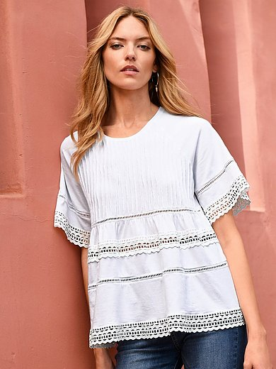 portray berlin - Tunic with slightly flared short sleeves