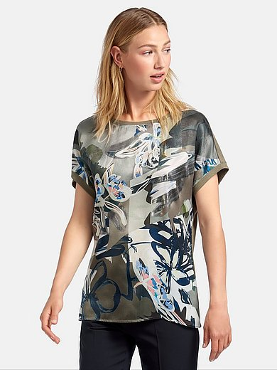 Rabe - Round neck top with cap sleeves