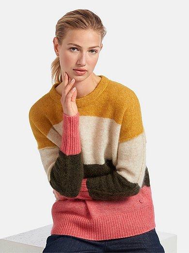 MAERZ Muenchen - Round neck jumper with block stripes