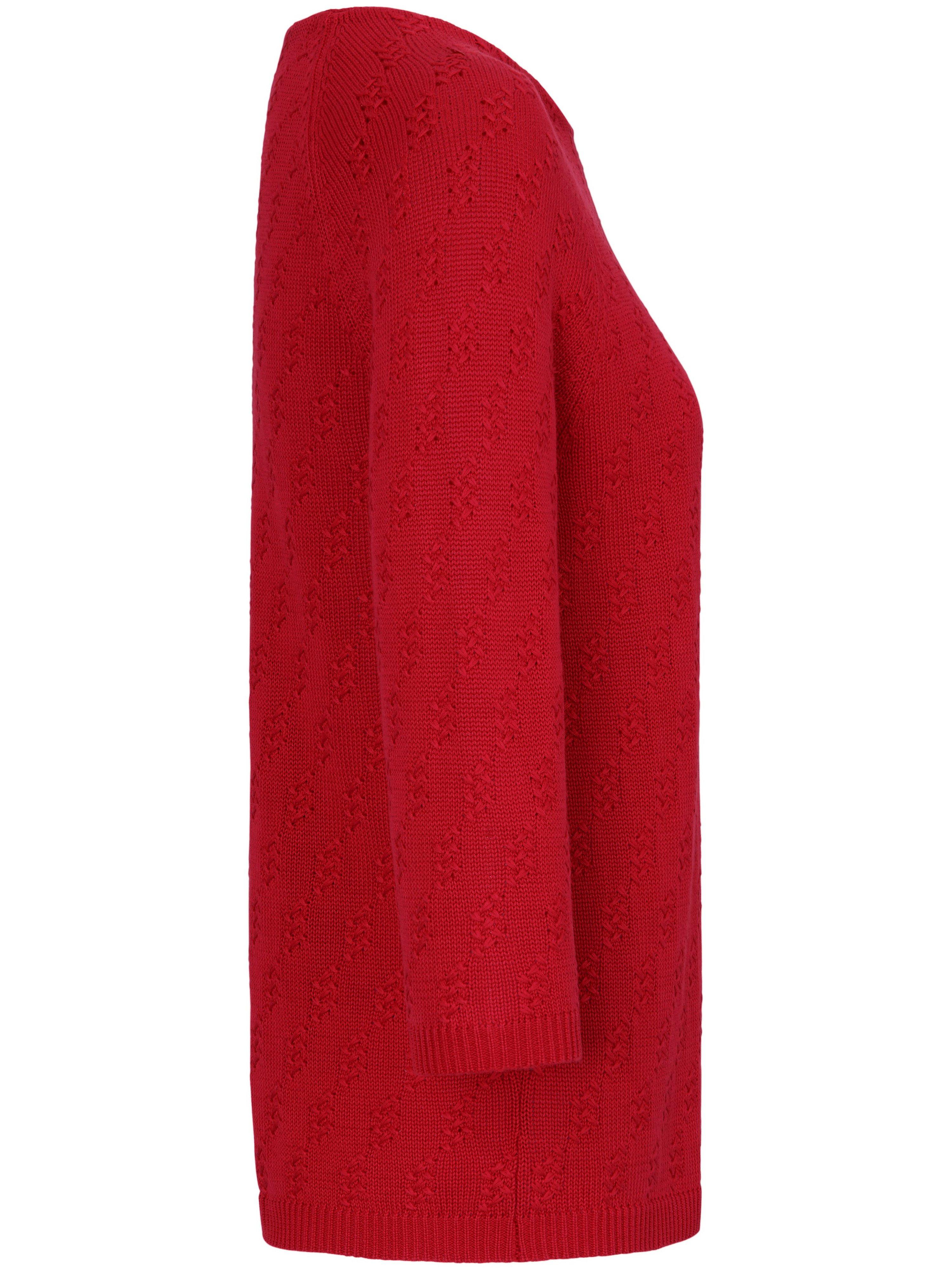 Strikbluse 3/4-lange raglanærmer Fra Peter Hahn rød