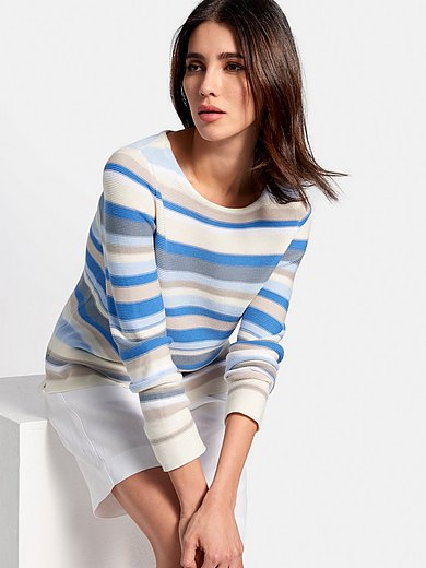 Peter Hahn - Striped jumper with long sleeves