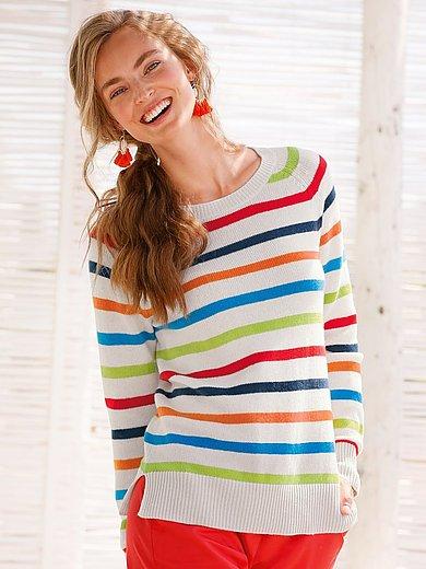 FLUFFY EARS - Round neck jumper in Pure cashmere in premium qual