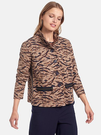 Betty Barclay - Jersey jacket with animal print