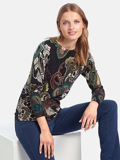 Betty Barclay - Round neck jumper with leopard skin pattern