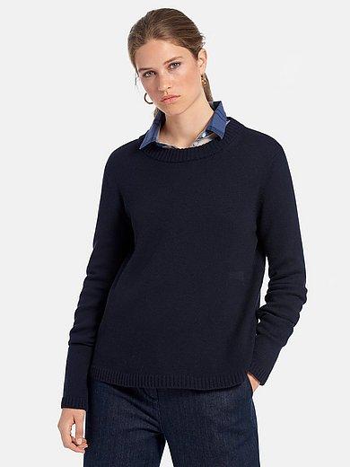 MAERZ Muenchen - Strikbluse med rund hals i 100% ren ny uld