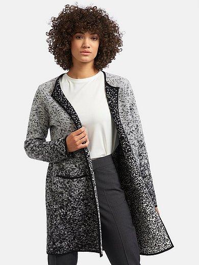 Lång kofta i 100% ren ny ull