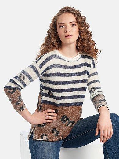 LIEBLINGSSTÜCK - Round neck jumper with leopard skin print