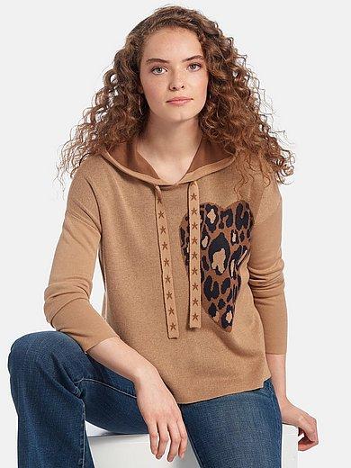 LIEBLINGSSTÜCK - Hooded jumper with heart motif