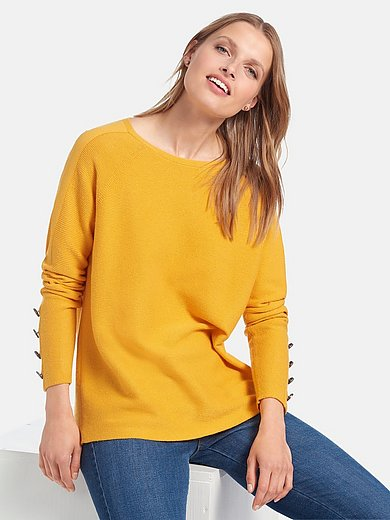 Betty Barclay - Round neck jumper with long raglan sleeves