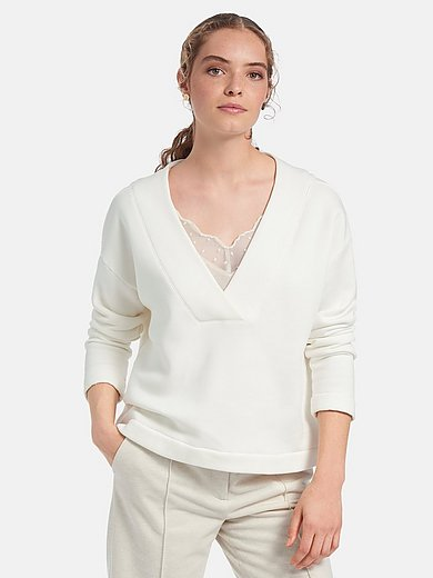 Lanius - Sweatshirt mit V-Ausschnitt