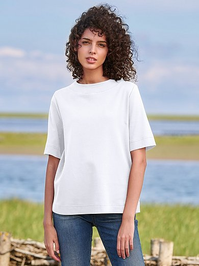 Peter Hahn - Short-sleeved round neck top 100% cotton