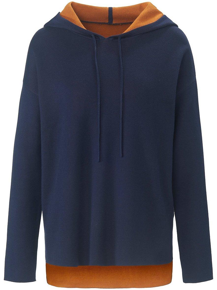 peter hahn pure edition - Kapuzen-Pullover  blau Größe: 48