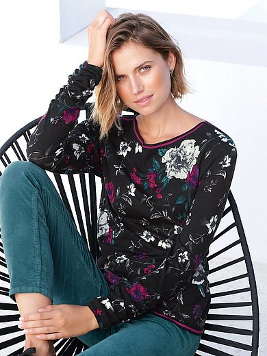 Betty Barclay - Round  neck jumper with gathering on the cuffs