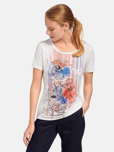 mayfair by Peter Hahn - Shirt met ronde hals en korte mouwen