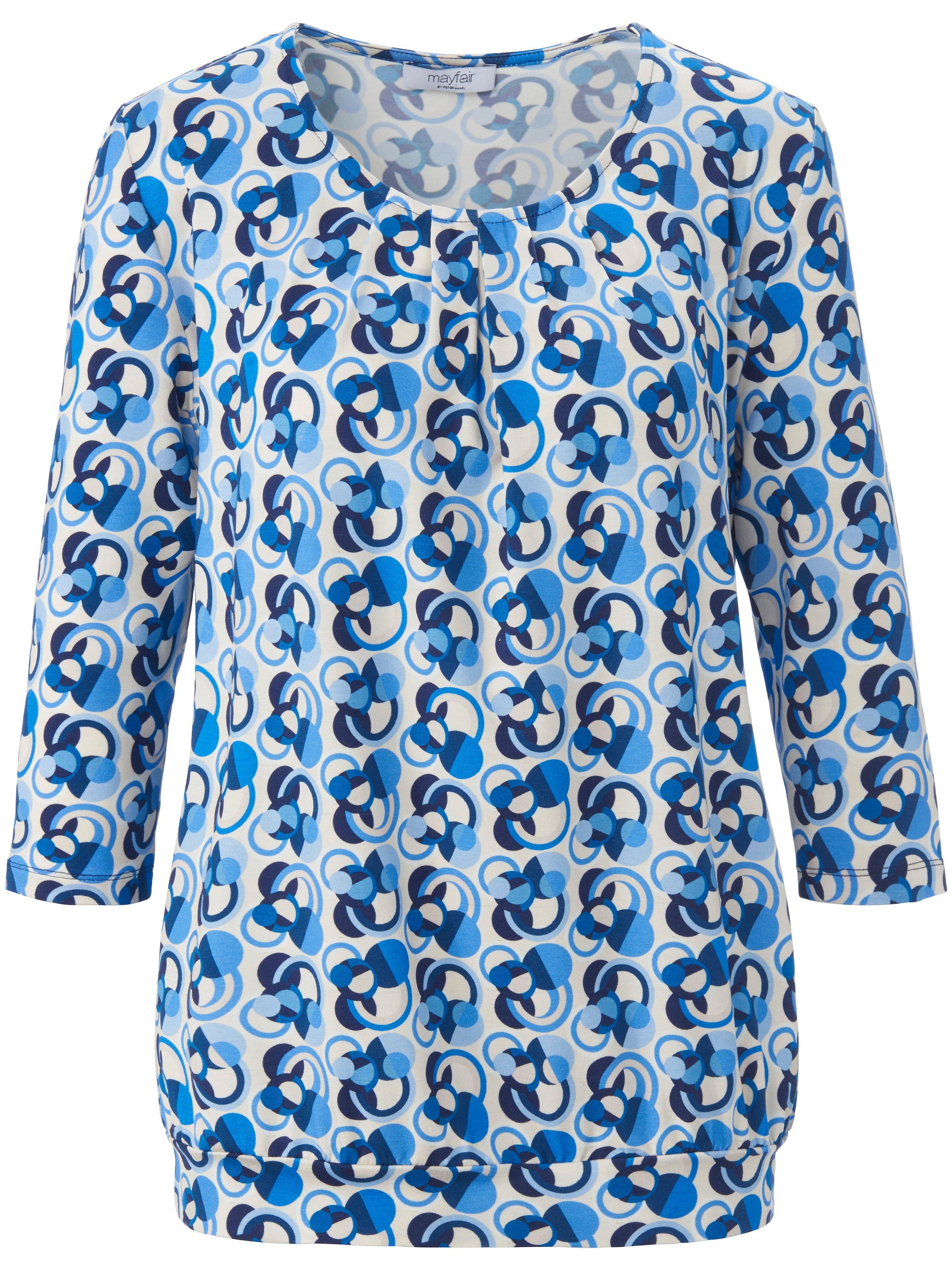 Shirt 3/4-mouwen en ronde hals Van mayfair by Peter Hahn multicolour