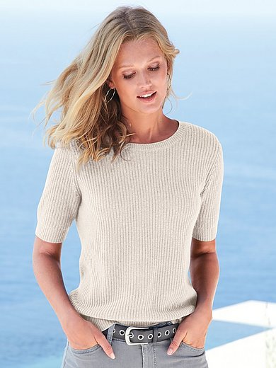 include - Round neck jumper with short sleeves