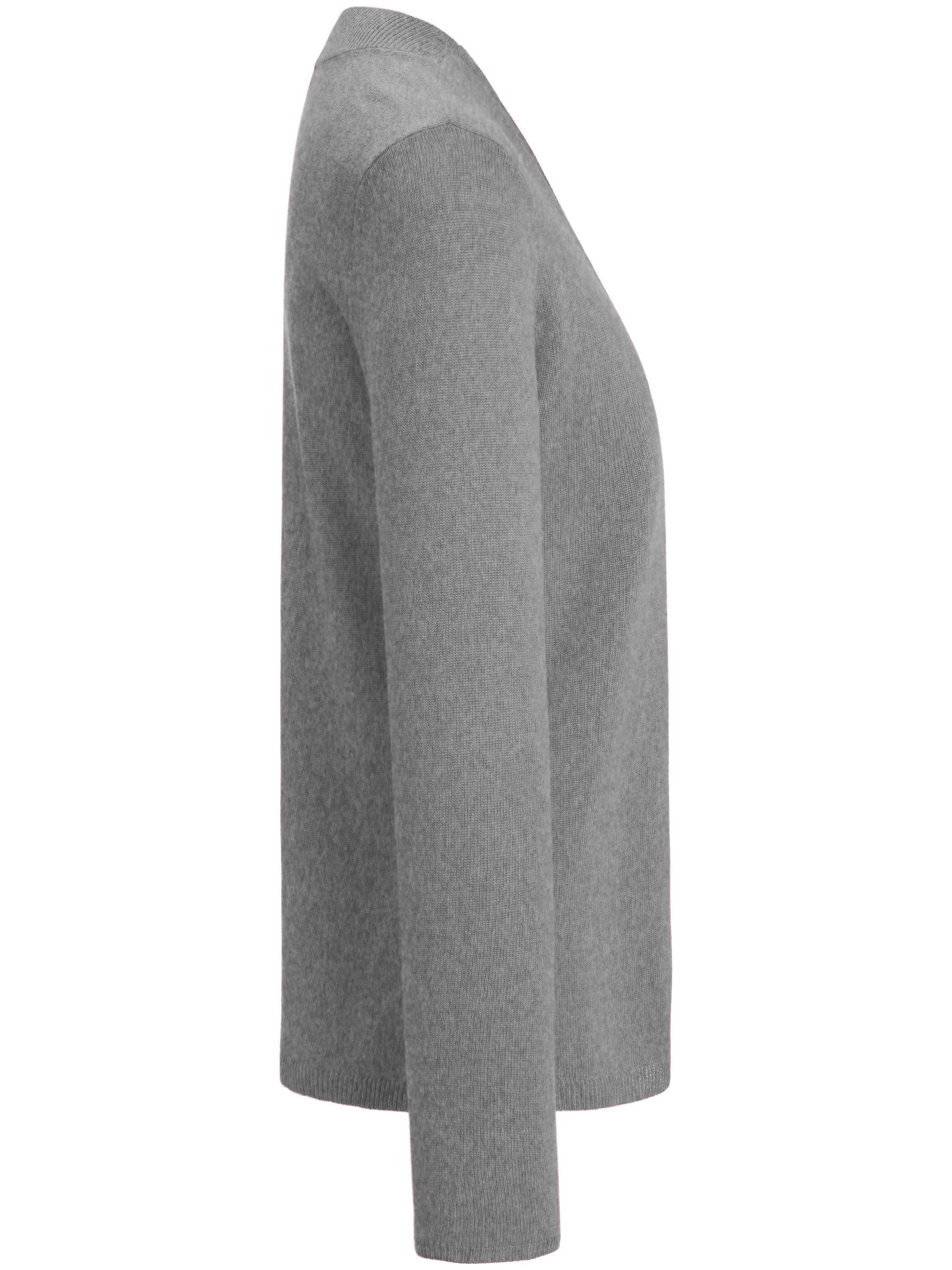 Strikbluse V-hals Fra include grå