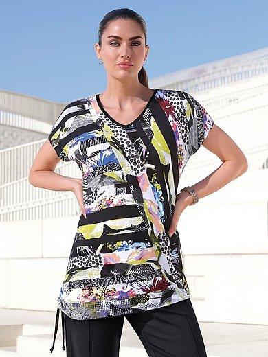 Emilia Lay - Shirt met aangeknipte mouwen en asymmetrische zoom