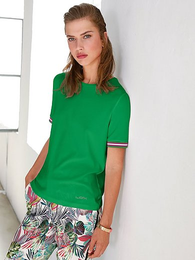 Looxent - Bluse med rund hals i ribjersey
